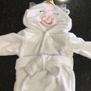 Other - Unicorn baby white robe